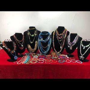Colorful Glass Beads Necklaces Bracelets